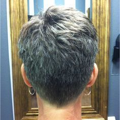 Black Pixie Cut for Thick Hair - 20 Sassy and Sexy Black Pixie Cuts - The Trending Hairstyle Super Short Hair, Short Grey Hair, Short Hair Cuts For Women, Short Cuts, Pelo Pixie, Mom Hairstyles, Short Pixie Haircuts, Sassy Haircuts, Great Hair