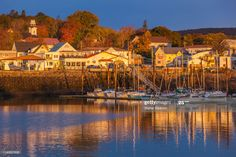Digby at sunrise Nova Scotia, San Francisco Skyline, Sunrise, Mansions, House Styles, Fall, Travel, Autumn, Viajes