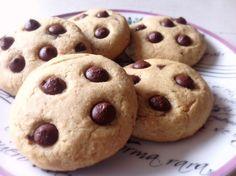 cookies de gengibre e chocolate