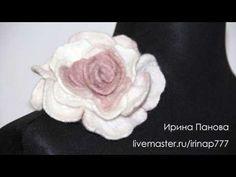 DIY: Wet Felting Flower with Sushi-roll Mat! Мокрое валяние цветов на коврике для роллов! - YouTube