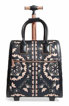 -- Ted Baker London Embers - Queen Bee Travel Bag - Black -- only always Best Travel Luggage, Carry On Luggage, Travel Bags, Luggage Sets, Rolling Laptop Bag, Rolling Bag, Sunglasses Storage, Ted Baker Fashion, Simple Bags