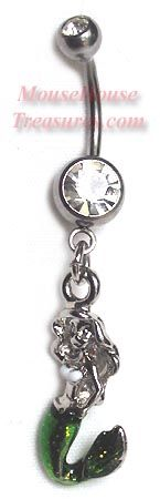 Ariel Silver 3D Belly Ring