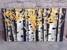 Abstract Painting on Stained Wood  Warm Yellow by theWoodPalette, $350.00 Art Work, Great Gifts, Palette, Warm, Gift Ideas, Abstract, Yellow, Unique Jewelry, Handmade Gifts