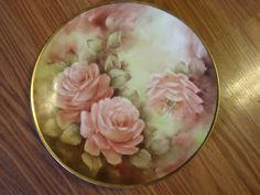 Vintage Floral Hand Painted Plate Painted By Bernice Carington
