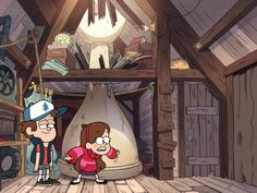 I love that mabel doesn't even notice there's a giant chess piece behind her