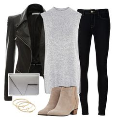 """""""Meetings"""" by jasmine-shum ❤ liked on Polyvore featuring Ström, Topshop, Golden Goose and Madewell"""