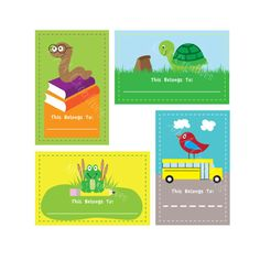DIY Printable Back to School Bookplates / Stickers / Labels.