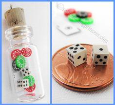 Gambler's Paradise Miniature Bottle by SelfRescuingPrincess, $13.00