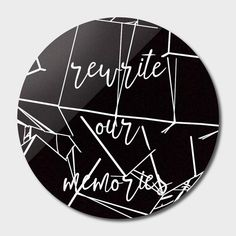 Discover «rewrite», Exclusive Edition Disk Print by Magdolna Novak - From $59 - Curioos