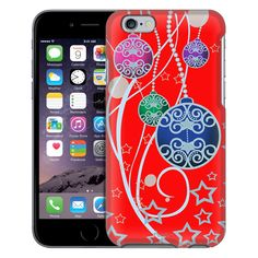 Apple iPhone 6 Christmas Ornaments on Red Case
