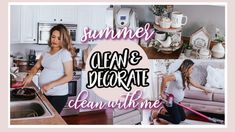 LONG ALL DAY CLEAN & DECORATE WITH ME FOR SUMMER Different Seasons, Room Rugs, Getting Organized, Home Decor Inspiration, Neutral, Cleaning, Day, Summer, Bedroom Rugs