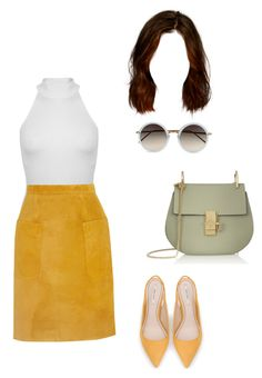 """""""Untitled #990"""" by aracely-munoz on Polyvore featuring Miss Selfridge, Topshop Unique, Zara and Linda Farrow"""