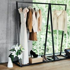 BEdesign   Minimalistisch Design Less is more clothing rack :) one thing I like to keep simply and allow my dresses to draw attention