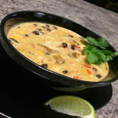 """A delicious, creamy Mexician inspired soup with just the right amount of kick to complement some of Mexico's best known flavours. Chicken Broth Can, Chicken Soup Recipes, Tequila Lime Chicken, Personal Recipe, Recipe Directions, Bowl Of Soup, Stuffed Jalapeno Peppers, Original Recipe, Soups And Stews"