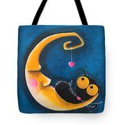 The Moon And Me Tote Bag by Lucia Stewart