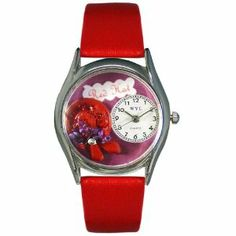 Whimsical Watches Women's S0460001 Red Hat Red Leather Watch Whimsical Watches. $37.60