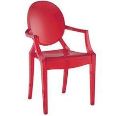 Mais opções de moveis de design, do Pontofrio.com. Cadeira vermelha