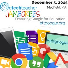 Learn more about #GoogleDrive and #GoogleClassroom from Greg Kulowiec Dec 5th in Medfield: http://ettgoogle.org/Medfield