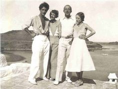 Dalí,Gala,Paul and Nusch Eluard at Port Lligat, 1931