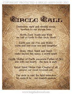 Cast a circle - Brigid Ashwood