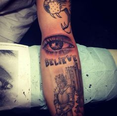 tattoo of Justin