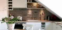 attic kitchen - Google Search