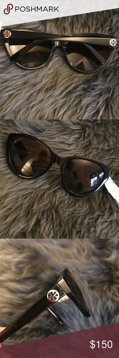 Tory Burch cat eye sunglasses New without tags. Never used or worn. Super cute slight cat eye Tory Burch sunglasses Tory Burch Accessories Sunglasses