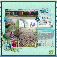 Digital layout using A Little Rain by Amber Shaw at Sweet Shoppe Designs