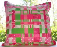 Looks like the framed ribbon weave I made for a friend!  Love the pillow idea :)