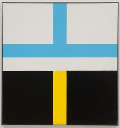 """Frederick Hammersley (1919-2009) Critically acclaimed American abstract painter whose participation in landmark 1959 Four Abstract Classicists exhibit secured his place in art history. Hammersley wrote in an exhibition catalog, """"hard-edge is often very hard to take, coming to it cold—or, even to the practiced eye"""". He expanded his repertoire beyond hard-edge, dividing his art into three categories: """"hunches"""", """"geometrics"""", & """"organics""""."""