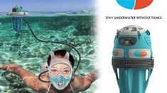 There's a gap in equipment between SCUBA diving and snorkelling. Freedive bridges that gap. With Freedive people can dive to six meters and stay there for over an hour without surfacing. No need for cumbersome SCUBA gear, special training, or to be tether Pesca Sub, Canoa Kayak, Materiel Camping, Scuba Diving Equipment, Scuba Diving Gear, Cave Diving, Cool Gear, Cool Inventions, Jet Ski