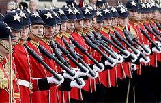Soldati Olandesi durante l'apertura del Parlamento