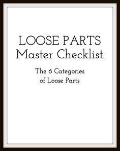 Loose Parts Checklist