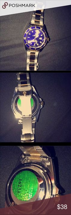 Men watch (diferente colors) I have more colors: Silver & blue Silver & black Silver & green  Silver & white Accessories Watches