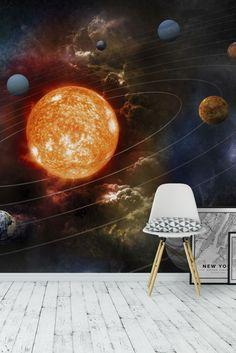 Solar System Wall Mural   Wallpaper