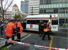 Heilsarmee-Fahrzeug im Einsatz beim Erdbeben Anfang 2011 in Neuseeland