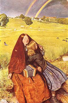 Another Millais. Another favorite. The Blind Girl. Breaks my heart so well. Pre-Raphaelite.