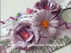 PAPER FLOWER, HAND CUT FRILL, (MIDDLE FLOWER IN PIC) DIY: How to make flower