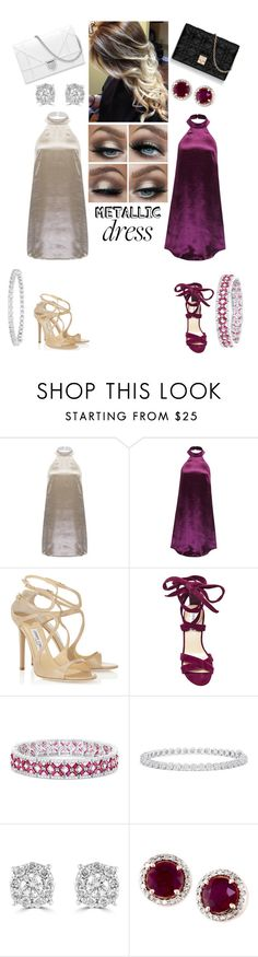 """""""Same dress, Different styles"""" by nikki-12-luv ❤ liked on Polyvore featuring WithChic, Jimmy Choo, Steve Madden, Effy Jewelry and Christian Dior"""
