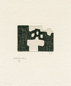 Eduardo Chillida  - Zubi, 1983 Etching 20 x 16 cm Edition 63 Signed and numbered