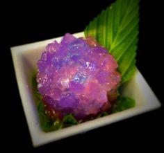 Pretty food is pretty. <3    Japanese confectionary AJISAI (hydrangea)「あじさい」川崎 和菓子 吉田屋