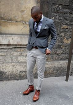 Grey on brown
