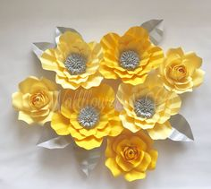 Paper flowers  large paper flowers  home decor