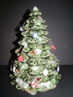 "Ceramic Christmas Tree Tea Light Holder Cut Out Shapes Hanging Ornaments 8 1/2"" #KohlsDepartmentStore"