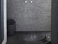 Stratum Anthracite wall tiles £34.50 per sq mtr (flooring is natural black slate at 17.50 per sq mtr)