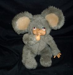 """12"""" VINTAGE RUSS BERRIE MOPPY GREY THUMB SUCKING MOUSE STUFFED ANIMAL PLUSH TOY #Russ"""