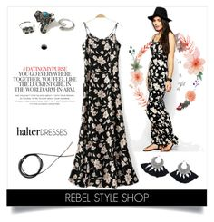 """""""Shoulder Show: Halter Dresses"""" by rebelstyleshopofficial ❤ liked on Polyvore featuring Kate Spade"""