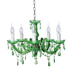 Emerald Green Chandelier by The French Bedroom Company French Chandelier, Chandelier Bedroom, Chandelier Lighting, Color Of The Year 2017 Pantone, Pantone Color, Green Chandeliers, I Love Lamp, Green Rooms, Kare Design