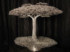 wire sculpted trees