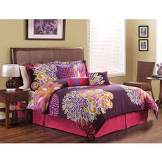Flower Show 7-piece Comforter Set | Overstock.com - Queen Size is $74.99